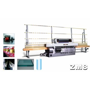 ZM8 8 Spindles Glass straight-line edging machine